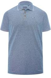 BadRhino Blue Birdseye Polo Shirt