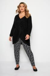 Black Animal Print Harem Trousers