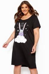 Black Bunny Rabbit Nightdress