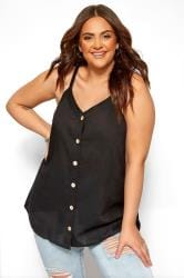 Black Button Cami Top