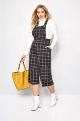 Black Check Dungarees