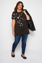 Black Foil Star T-Shirt