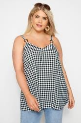 Black Gingham Vest Top