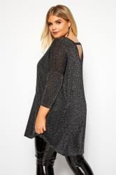 Black & Silver Metallic Knitted Jumper