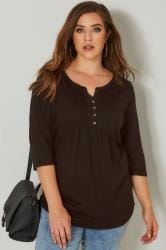 Black Pintuck Jersey Top
