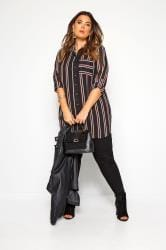 Black & Red Striped Oversized Boyfriend Shirt