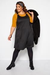 Black Swing Pinafore Dress