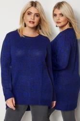 Blue & Black Twist Knitted Jumper