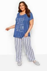 Blue Glitter 'Sleep All Night' Pyjama Set