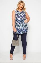 Trägertop mit Batik-Muster - Blau