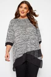 Grey Marl Double Layer Top