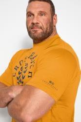 CROSSHATCH Yellow Printed T-Shirt