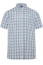 CARABOU Blue Check Short Sleeve Shirt