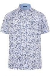 CARABOU Blue Floral Print Shirt