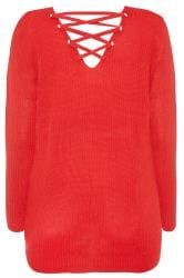 Red Lattice Back Jumper