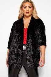 LIMITED COLLECTION Czarne welurowe kimono