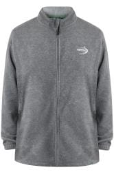 D555 Charcoal Grey Full Zip Anti Pill Fleece