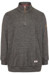 D555 Charcoal Grey Funnel Neck Sweater