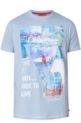 D555 Blue California Graphic Print T-Shirt