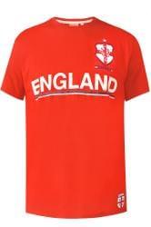 D555 Fußball-T-Shirt mit England-Motiv - Rot