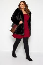 Wine Red Balloon Sleeved Tunic