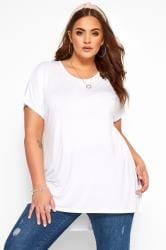 White Dipped Hem Top