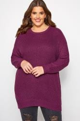 Purple Chunky Knitted Jumper