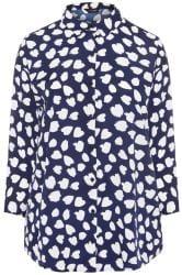 Navy Dalmatian Print Shirt