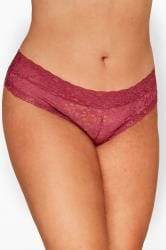 Dark Pink Lace Briefs
