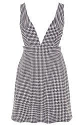 LIMITED COLLECTION Black & White Dogtooth Pinafore Dress