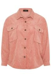Dusky Pink Cord Shacket