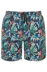 ED BAXTER Multi Tropical Print Swim Shorts