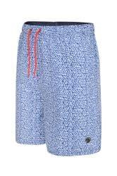 ESPIONAGE Blue Geometric Swim Shorts