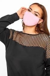 Pink Antibacterial Face Mask