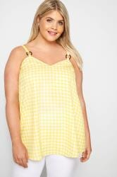 Yellow Gingham Vest Top