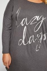 Grey Foil Slogan Lounge Set