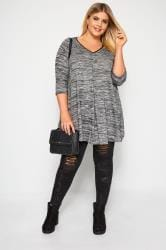 Grey Marl Longline Swing Top