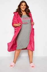 Grey & Neon Pink 'Weekend Loading' Slogan Nightdress
