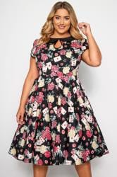 HELL BUNNY Black Queen Of Hearts Dress