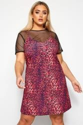 LIMITED COLLECTION Pink Leopard Print 2 in 1 Dress