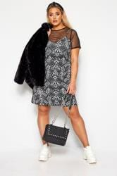 LIMITED COLLECTION Grey Snake Print 2 in 1 Dress