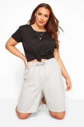 Grey Marl Jogger Shorts