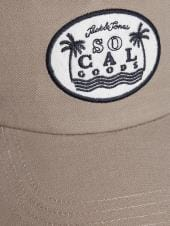 JACK & JONES Beige Embroidered Trucker Cap