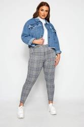 LIMITED COLLECTION Spodnie w niebieską kratkę