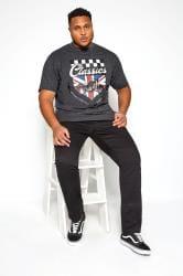 KAM Charcoal Grey Motorcycle Graphic Printed T-Shirt