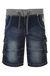 KAM Dark Blue Denim Shorts