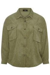 Khaki Cord Shacket