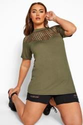 LIMITED COLLECTION Khaki Fishnet Insert Top