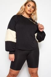LIMITED COLLECTION Black Panelled Sleeve Jumper