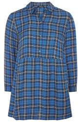 LIMITED COLLECTION Blue Oversized Overhead Check Shirt